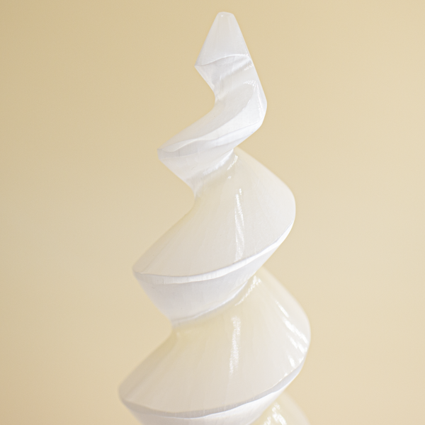 Obelisco en espiral de selenita