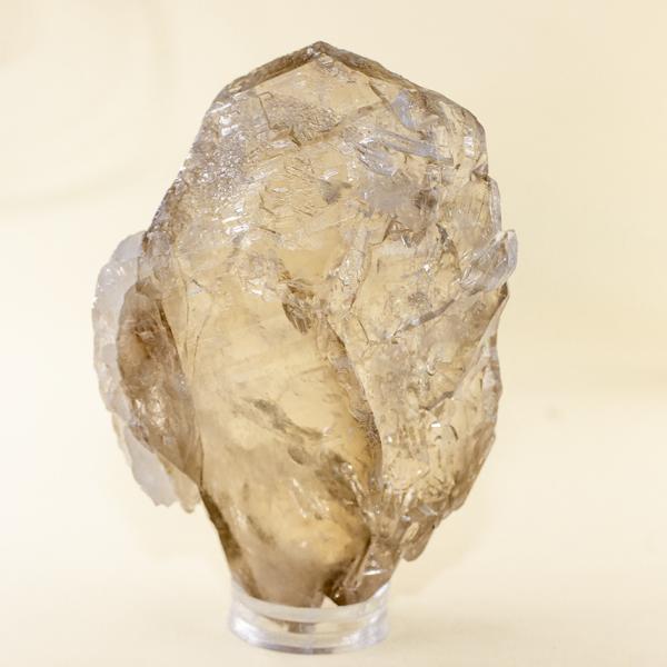 Cuarzo ahumado natural con incrustaciones de cuarzo blanco