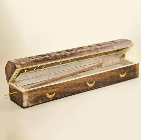 Incensario caja de madera